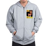 Titter Vintage Pin Up Girl Magazine Zip Hoodie