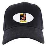 Titter Vintage Pin Up Girl Magazine Black Cap