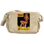 Titter Vintage Pin Up Girl Magazine Messenger Bag