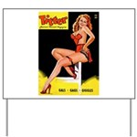 Titter Vintage Pin Up Girl Magazine Yard Sign
