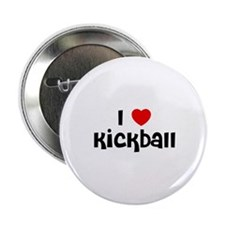 "I * Kickball 2.25"" Button (10 pack)"