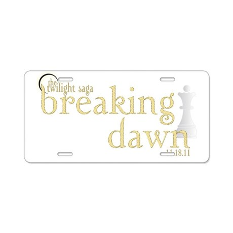 Breaking Dawn 2 Aluminum License Plate