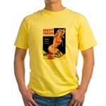 Beauty Parade Pin Up with Rose Yellow T-Shirt