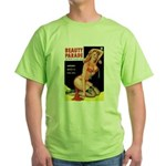 Beauty Parade Pin Up with Rose Green T-Shirt