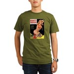 Beauty Parade Pin Up with Rose Organic Men's T-Shi
