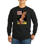Beauty Parade Pin Up with Rose Long Sleeve Dark T-