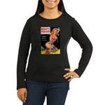 Beauty Parade Pin Up with Rose Women's Long Sleeve