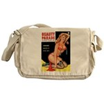 Beauty Parade Pin Up with Rose Messenger Bag