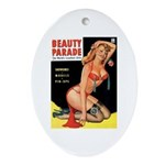 Beauty Parade Pin Up with Rose Ornament (Oval)