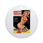 Beauty Parade Pin Up with Rose Ornament (Round)