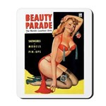 Beauty Parade Pin Up with Rose Mousepad