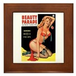 Beauty Parade Pin Up with Rose Framed Tile