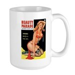 Beauty Parade Pin Up with Rose Large Mug
