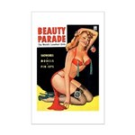Beauty Parade Pin Up with Rose Mini Poster Print