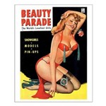 Beauty Parade Pin Up with Rose Small Poster