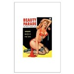 Beauty Parade Pin Up with Rose Large Poster