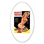 Beauty Parade Pin Up with Rose Sticker (Oval)