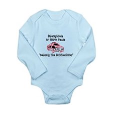 Fire Truck for Kids Long Sleeve Infant Bodysuit