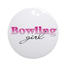 Bowling girl Ornament (Round)