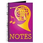 French Horn Notes Lesson Music Practice Book