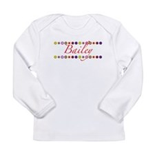 Bailey with Flowers Long Sleeve Infant T-Shirt