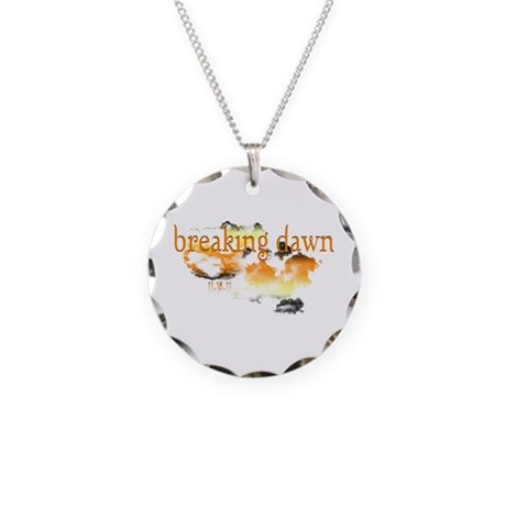 Breaking Dawn Necklace Circle Charm