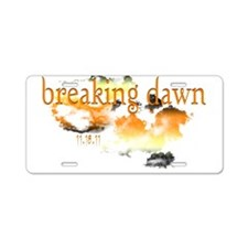 Breaking Dawn Aluminum License Plate
