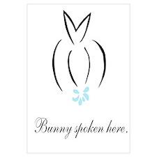 Bunny spoken here