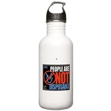 People Are Not Disposable Water Bottle