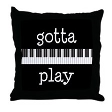 Piano Keyboard Music Throw Pillow
