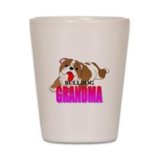Bulldog Grandma Shot Glass