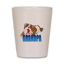 Bulldog Grandpa Shot Glass
