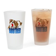 Bulldog Brother Drinking Glass