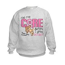 Before I Grow Boobs Breast Cancer Sweatshirt