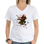 Dragon Rider Women's V-Neck T-Shirt