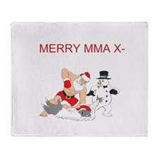 MMA Santa Throw Blanket