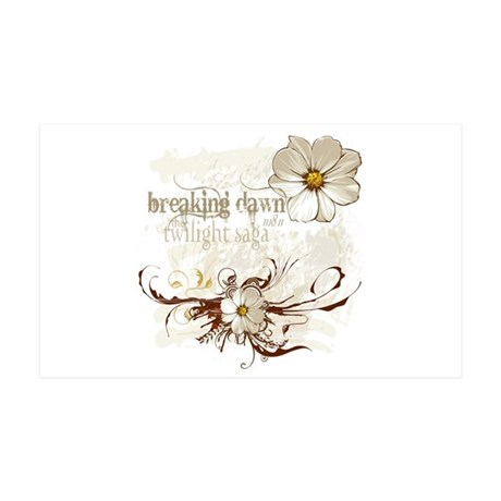 Breaking Dawn Floral 35x21 Wall Decal