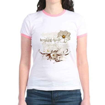 Breaking Dawn Floral Jr. Ringer T-Shirt
