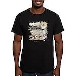 Breaking Dawn Floral Men's Fitted T-Shirt (dark)