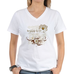 Breaking Dawn Floral Women's V-Neck T-Shirt