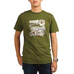 Breaking Dawn Floral Organic Men's T-Shirt (dark)