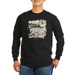 Breaking Dawn Floral Long Sleeve Dark T-Shirt