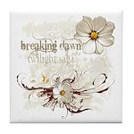 Breaking Dawn Floral Tile Coaster