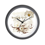 Breaking Dawn Floral Wall Clock