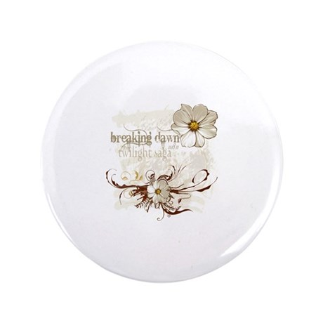 """Breaking Dawn Floral 3.5"""" Button (100 pack)"""