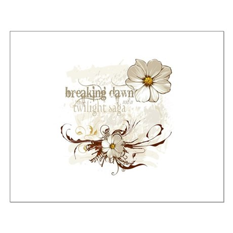 Breaking Dawn Floral Small Poster