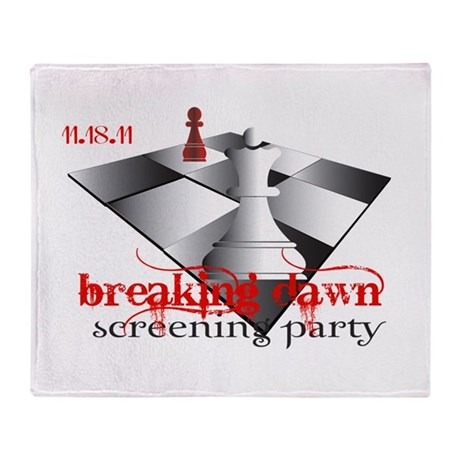 Breaking Dawn Screening Party Throw Blanket