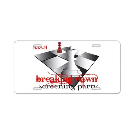Breaking Dawn Screening Party Aluminum License Pla
