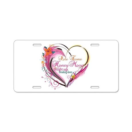 Isle Esme Honeymoon Aluminum License Plate