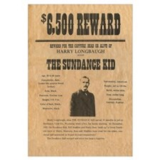Sundance Kid Wild West Reward Print